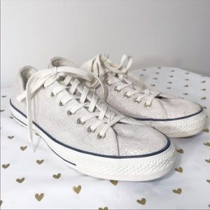 Converse All Star White Iridescent Sneakers - 10.5